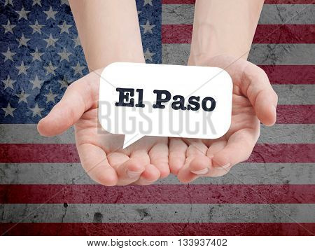 El Paso written in a speechbubble