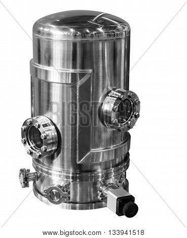 Laboratory Equipment. Study The High Vacuum Chamber.