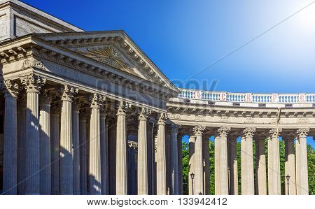 Kazan Cathedral or Cathedral of Our Lady of Kazan on Nevsky Prospect in St. Petersburg Russia