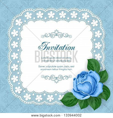Vintage Floral Invitation Template