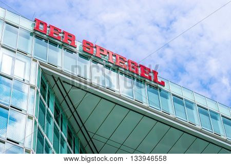 HAMBURG, GERMANY - MAY 22, 2016: Headquarter of German magazine and publishing house Der Spiegel.
