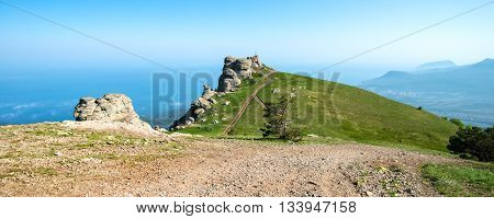 image of beautiful panorama of the mountains