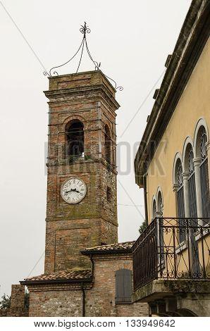 Montefiore Conca (Rimini). Medieval landscape in Emilia-Romagna (Italy).