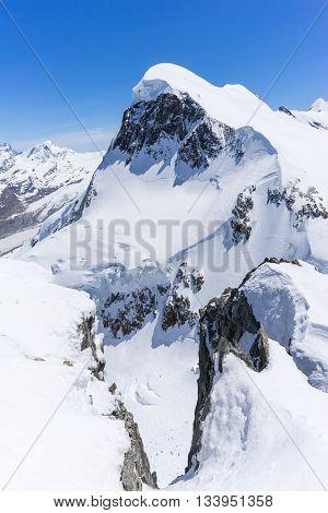 Alpine Alps Mountain Landscape At Matterhorn Switzerland