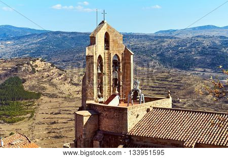 Chapel of Morella. Morella is an ancient city located on a hill-top in the province of Castellon Valencian Community Spain. Morella Castle was declared a monument of artistic and historical importance.