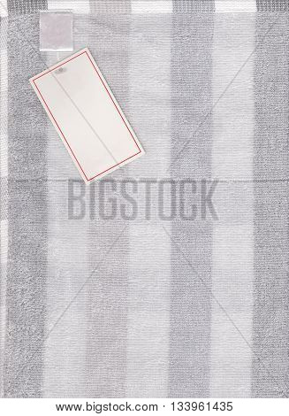 gray fabric texture of textiles scots pattern and have paper label for design abstract background.