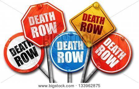 death row, 3D rendering, street signs, 3D rendering, street sign