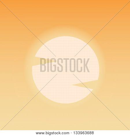 Hot sun. Desert blazing sun. Summer background. Vector illustration