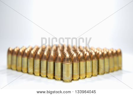 group of 9 mm full metal jacket bullet