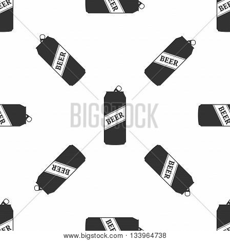 Beer Can Icon pattern on white background