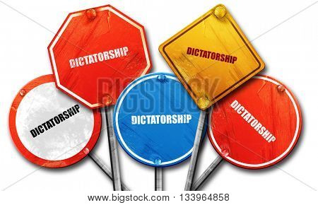 dictatorship, 3D rendering, street signs, 3D rendering, street s