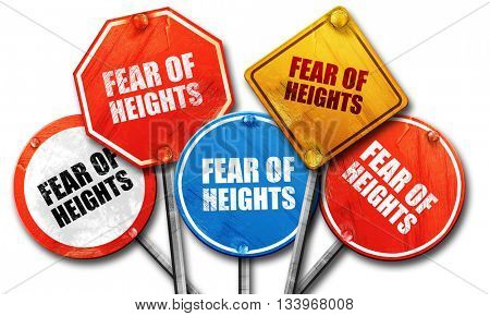 fear of heights, 3D rendering, street signs