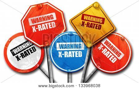Xrated sign isolated, 3D rendering, street signs