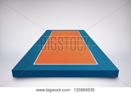 Drawing of sports field against blue background with vignette