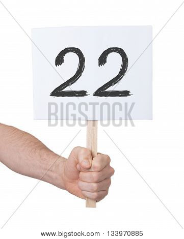 Sign With A Number, 22