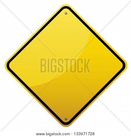 Blank Glossy Road Sign