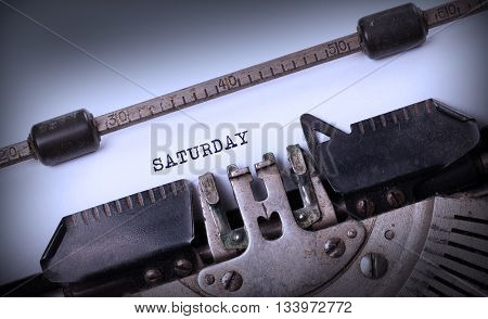 Saturday Typography On A Vintage Typewriter