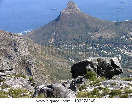 View Of Lions Head From Table Mountain, Cape Town South Africa 11