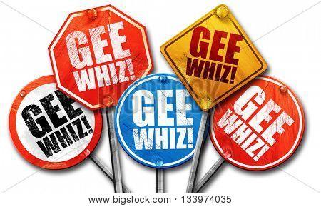 gee whiz, 3D rendering, street signs