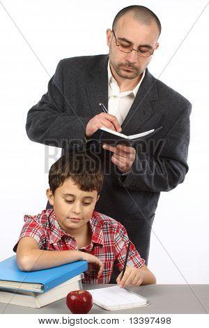Schoolboy And  Teacher