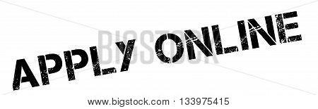Apply Online Black Rubber Stamp On White