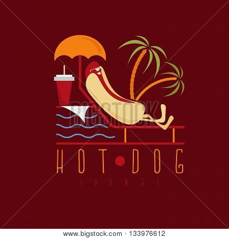 Hot Dog Lounge Concept Vector Design Template
