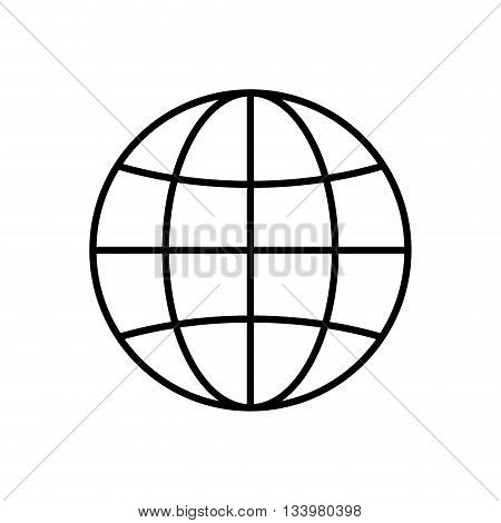 isolated planet earth with orbit design  , Vector