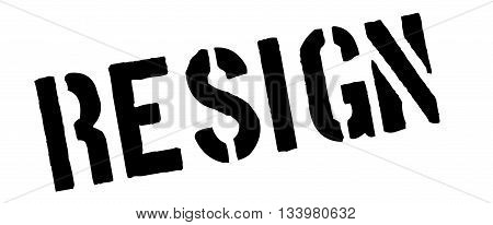 Resign Black Rubber Stamp On White