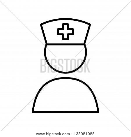 isolated medical member, nurse with a hat icon design , Vector