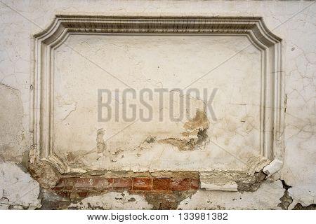 White Brick Wall Architectural Detail