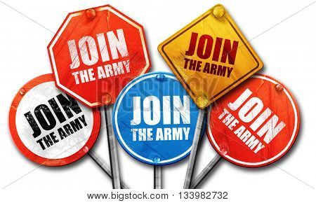join the army, 3D rendering, street signs