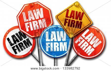 law firm, 3D rendering, street signs