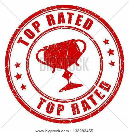 Top rated stamp isolated on white background