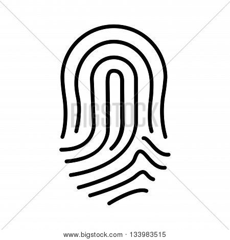 isolated finger print icon design, linear illustration , Vector
