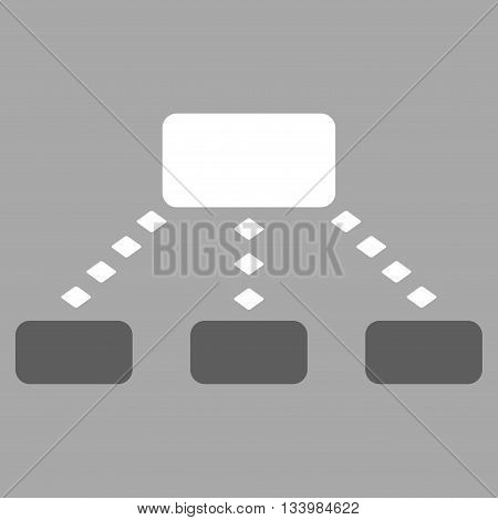 Dotted Scheme vector toolbar icon. Style is bicolor flat icon symbol, dark gray and white colors, silver background, rhombus dots.