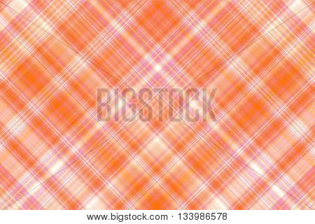 Orange and white checkered illustration with diagonal lines