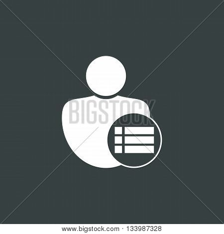 User Detail Icon In Vector Format. Premium Quality User Detail Symbol. Web Graphic User Detail Sign