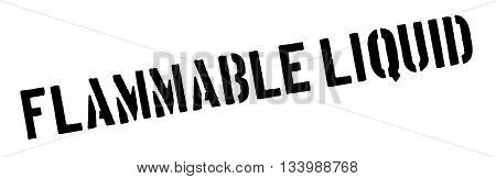Flammable Liquid Black Rubber Stamp On White