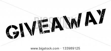 Giveaway Black Rubber Stamp On White