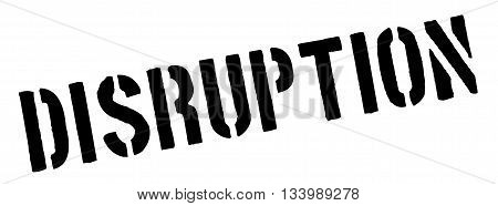 Disruption Black Rubber Stamp On White
