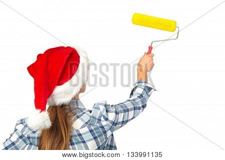 Woman With A Roller. Christmas