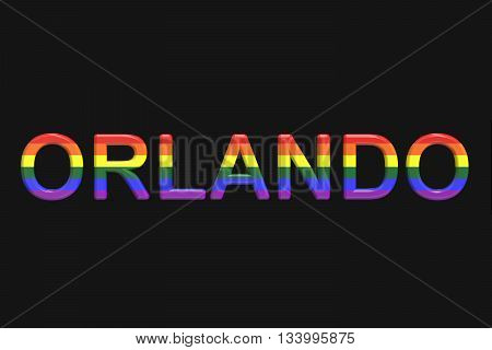 Orlando mass shooting concept 3D rendering on black background