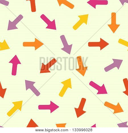 vector seamless pattern - arrows in different directions