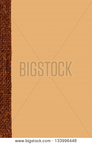 Textile tarpaulin fabric space coffee canvas hemp material close-up background