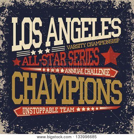 Sport t-shirt graphic design Sport print stamp Sports wear typography emblem Creative design Vector