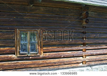 Old Wooden House Wall And Window
