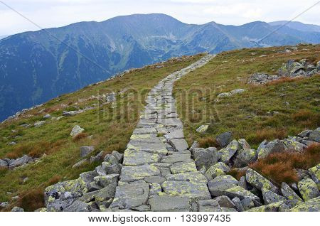 Long Trail In High Mountains