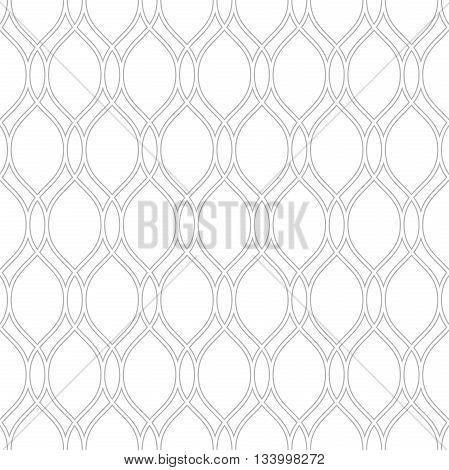 Seamless vector ornament. Modern geometric pattern with repeating silver wavy lines