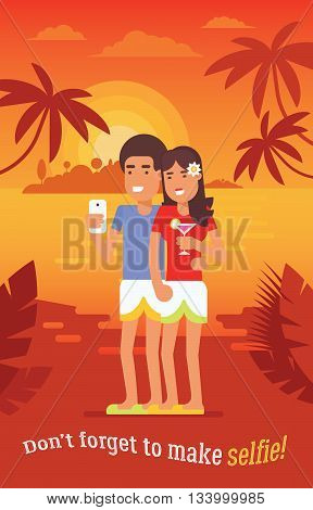 Couple-vacation-selfie