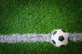 Soccer Ball On Soccer Field poster